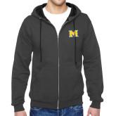 Charcoal Fleece Full Zip Hoodie-M