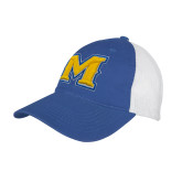 Royal/White Mesh Back Unstructured Low Profile Hat-M