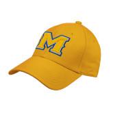 Gold Heavyweight Twill Pro Style Hat-M