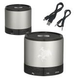 Wireless HD Bluetooth Silver Round Speaker-Primary Mark