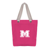 Allie Fuchsia Canvas Tote-M