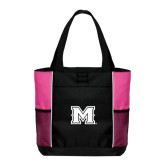 Black/Tropical Pink Panel Tote-M