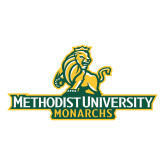 Large Decal-Methodist University Monarchs, 12 inches wide