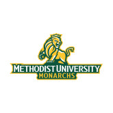Small Decal-Methodist University Monarchs, 6 inches wide
