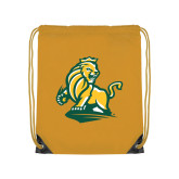 Gold Drawstring Backpack-Primary Mark