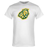 White T Shirt-Lion Head