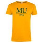 Ladies Gold T Shirt-MU 1956