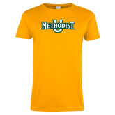 Ladies Gold T Shirt-Methodist U
