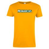 Ladies Gold T Shirt-Monarchs