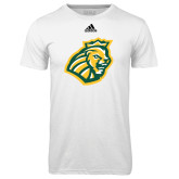Adidas Climalite White Ultimate Performance Tee-Lion Head