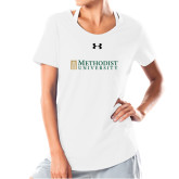 Ladies Under Armour White Charged Cotton Tee-Official Artwork