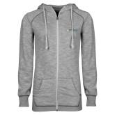 ENZA Ladies Grey/Black Marled Full Zip Hoodie-Official Artwork