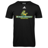 Adidas Climalite Black Ultimate Performance Tee-Methodist University Monarchs