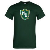 Dark Green T Shirt-MU Shield