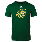 Adidas Dark Green Logo T Shirt-Lion Head