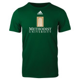 Adidas Dark Green Logo T Shirt-Primary Instituational Logo