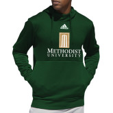 Adidas Dark Green Team Issue Hoodie-Primary Instituational Logo