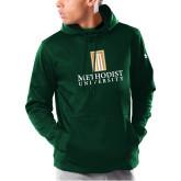 Under Armour Dark Green Armour Fleece Hoodie-Primary Instituational Logo