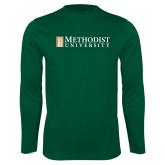 Performance Dark Green Longsleeve Shirt-Official Artwork