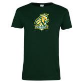 Ladies Dark Green T Shirt-Methodist U