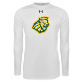 Under Armour White Long Sleeve Tech Tee-Lion Head