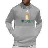 Adidas Grey Team Issue Hoodie-Primary Instituational Logo