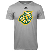 Adidas Climalite Sport Grey Ultimate Performance Tee-Lion Head