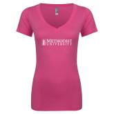 Next Level Ladies Junior Fit Ideal V Pink Tee-Official Artwork