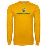 Gold Long Sleeve T Shirt-Monarch Nation