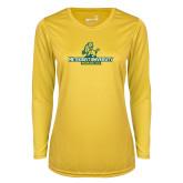 Ladies Syntrel Performance Gold Longsleeve Shirt-Methodist University Monarchs