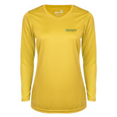 Ladies Syntrel Performance Gold Longsleeve Shirt-Official Artwork