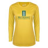 Ladies Syntrel Performance Gold Longsleeve Shirt-Primary Instituational Logo