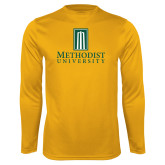 Performance Gold Longsleeve Shirt-Primary Instituational Logo