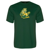 Performance Dark Green Tee-Primary Mark