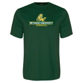 Performance Dark Green Tee-Methodist University Monarchs