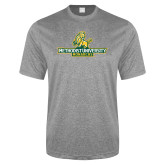Performance Grey Heather Contender Tee-Methodist University Monarchs