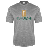 Performance Grey Heather Contender Tee-Primary Instituational Logo