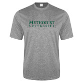 Performance Grey Heather Contender Tee-Horizontal Methodist University