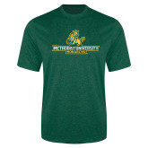 Performance Dark Green Heather Contender Tee-Methodist University Monarchs