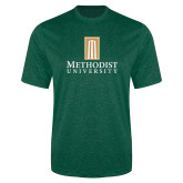 Performance Dark Green Heather Contender Tee-Primary Instituational Logo
