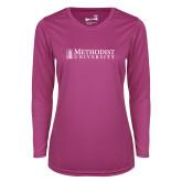 Ladies Syntrel Performance Raspberry Longsleeve Shirt-Official Artwork