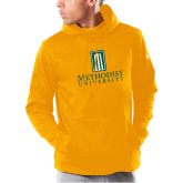 Under Armour Gold Armour Fleece Hoodie-Primary Instituational Logo