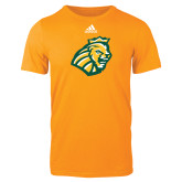 Adidas Gold Logo T Shirt-Lion Head