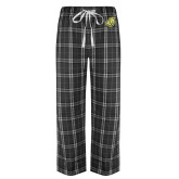 Black/Grey Flannel Pajama Pant-Lion Head