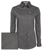 Ladies Grey Tonal Pattern Long Sleeve Shirt-Official Artwork