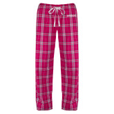 Ladies Dark Fuchsia/White Flannel Pajama Pant-Official Artwork