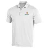 Under Armour White Performance Polo-Primary Instituational Logo