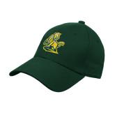 Dark Green Heavyweight Twill Pro Style Hat-Primary Mark