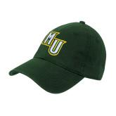 Dark Green Twill Unstructured Low Profile Hat-MU