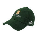 Adidas Dark Green Slouch Unstructured Low Profile Hat-Primary Instituational Logo